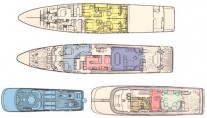 Yacht ATLANTICA -  Layout